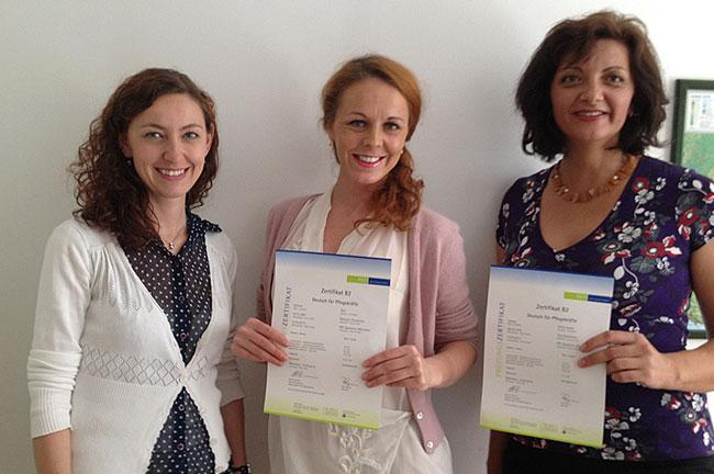 PET-Sprachen B2 Deutsch für Pflegekräfte Zertifikat
